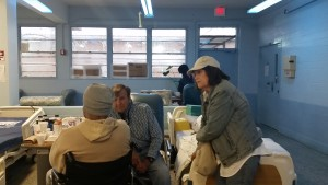 Dale and Shirley Perkins Ministering in the Hospice Ward with an offender
